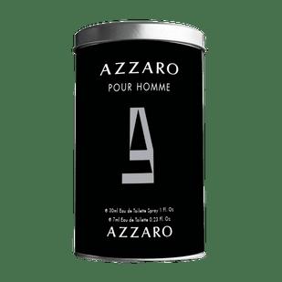 Azzaro-Kit-Pour-Homme-Eau-de-Toilette-30ml-Lata---Mini-7ml---Perfume-Masculino
