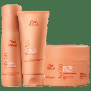 Wella-Kit-Invigo-Nutri-Enrich---Shampoo-250ml---Condicionador-200ml---Mascara-150ml
