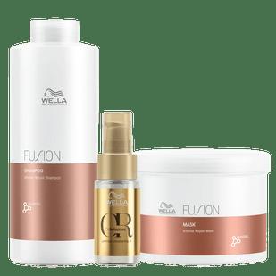 Wella-Kit-Fusion-Shampoo-1L---Mascara-500ml---Oil-Reflection-30ml