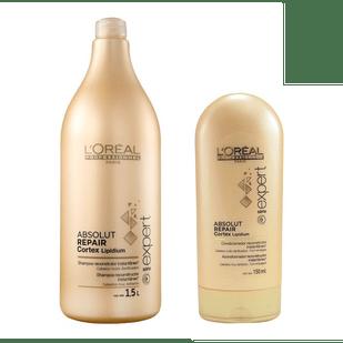 Loreal-Kit-Absolut-Repair-Cortex-Lipidium---Shampoo-15LT---Condicionador-150ml-