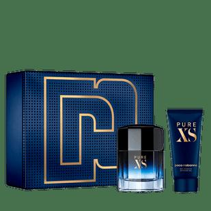 Paco-Rabanne-Kit-Pure-XS-Eau-de-Toilette---Perfume-Masculino-100ml---Gel-de-Banho-100ml