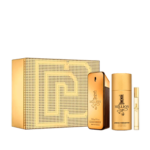 Kit-One-Million-Eau-de-Toilette-100ml---Perfume-Masculino---Desodorante-150ml---Travel-Spray-10ml-