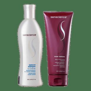 Kit-Senscience-Inner-Restore-Deep-Moisturizing---Mascara-de-Hidratacao-200ml---Balance---Shampoo-300ml
