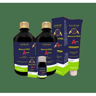 Kit-Monovit-PRO-A-Plus-Ampola-30ml---Mascara-250ml---Shampoo-250ml---Creme-de-Pentear-120g