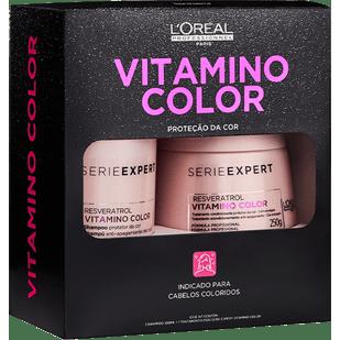 Loreal-Professionnel-Kit-Vitamino-Color-Resveratrol-Shampoo-300ml---Mascara-250g