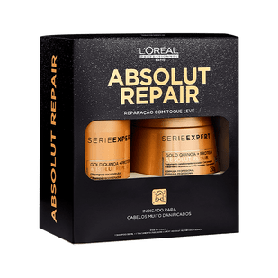 L'Oreal-Professionnel-Kit-Absolut-Repair-Gold-Quinoa---Protein---Shampoo-300ml--Mascara-Light-250ml