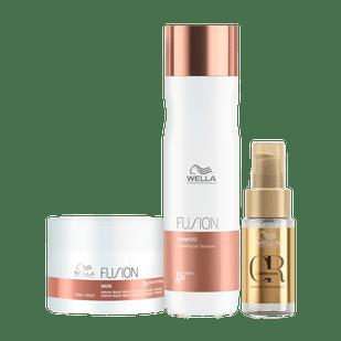 Wella-Professionals-Fusion-Kit-Shampoo-250ml---Mascara-150ml---Oil-Reflections-30ml