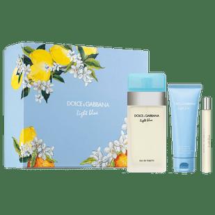 Dolce---Gabbana-Kit-Light-Blue-Eau-de-Toilette-100ml---Eau-de-Toilette-10ml----Body-Lotion-75ml----Perfume-Feminino