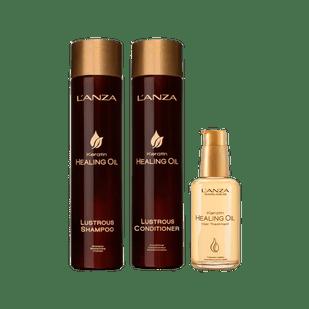 Lanza-Kit-Keratin-Healing-Oil-Shampoo-300ml---Condicionador-250ml----Oil-Hair-Treatment-100ml