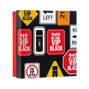 Carolina-Herrera-Kit-212-Vip-Black-Eau-de-Parfum-100ml---Gel-de-Banho-100ml
